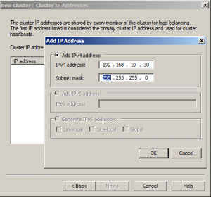 Cluster IP Address