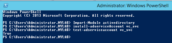 group managed service account powershell